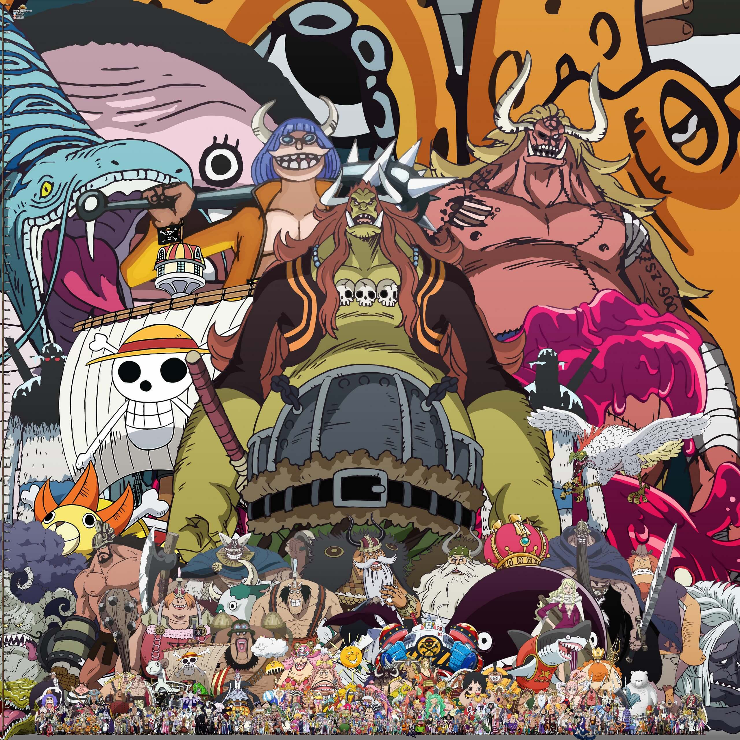 One Piece Character Height Comparison Chart