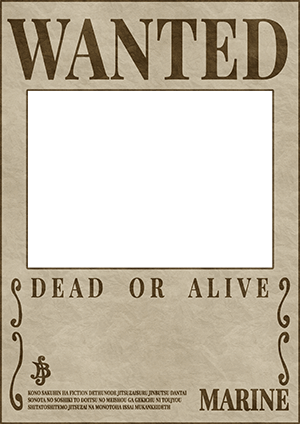 picture regarding Printable Wanted Poster known as A single Piece Preferred Poster Template Clay Issue